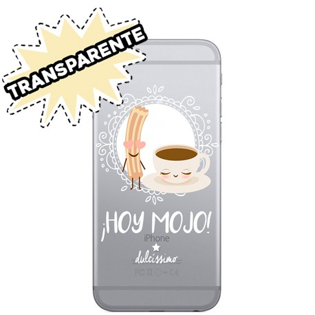 Funda para móvil Coffee Transparente